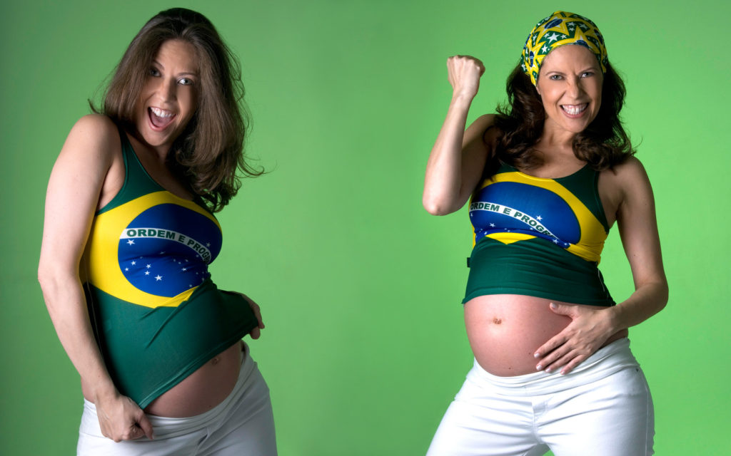 gestante torcida brasil